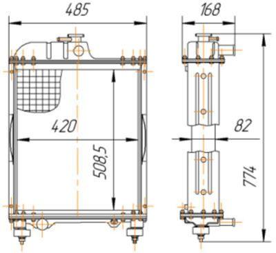 Радиатор печки МТЗ,купить,80-8101900,радиатор отопителя.