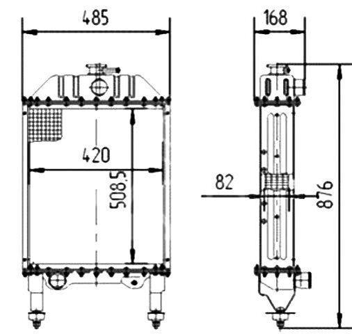 Радиатор трактора,радиатор охлаждения трактора,радиатор.
